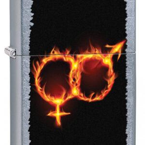 Bricheta Zippo Man Woman Fire