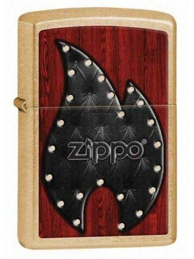 Bricheta Zippo Leather Flame
