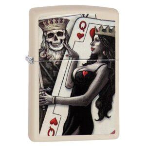 Bricheta Zippo Skull King Queen Beauty