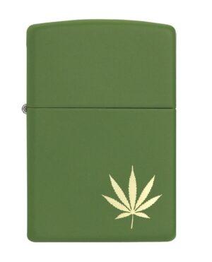 Bricheta Zippo Leaf Design Laser